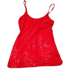 DOT: Ruby Red Sequins Sparkle Camisole!
